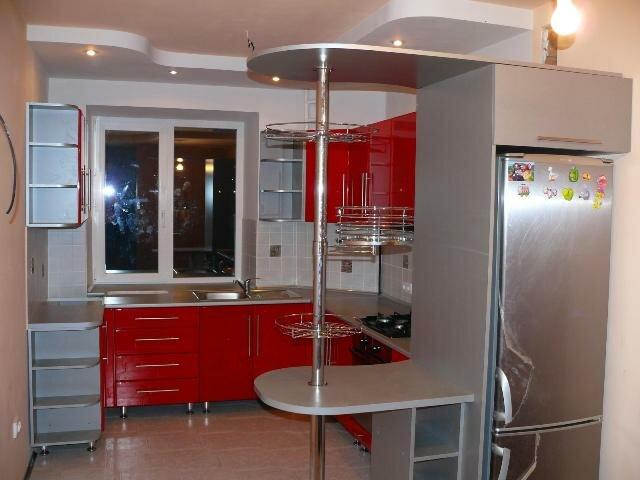 дизайн кухни фото 9 кв с барной стойкой алкоголизма