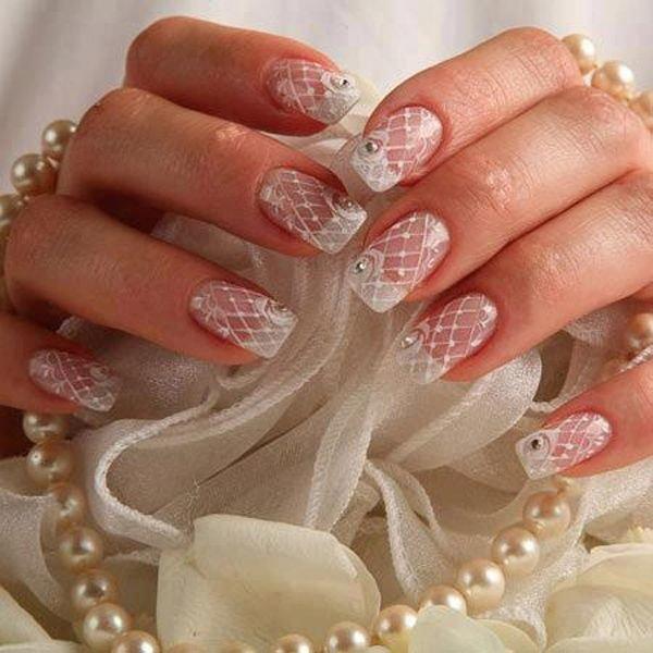 Маникюр для невесты для коротких, средних и длинных ногтей.
