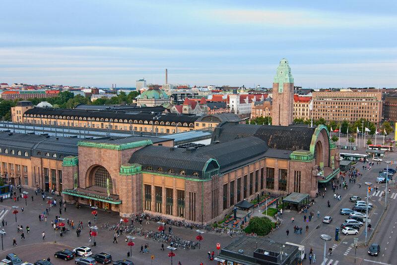 .Железнодорожный вокзал Хельсинки