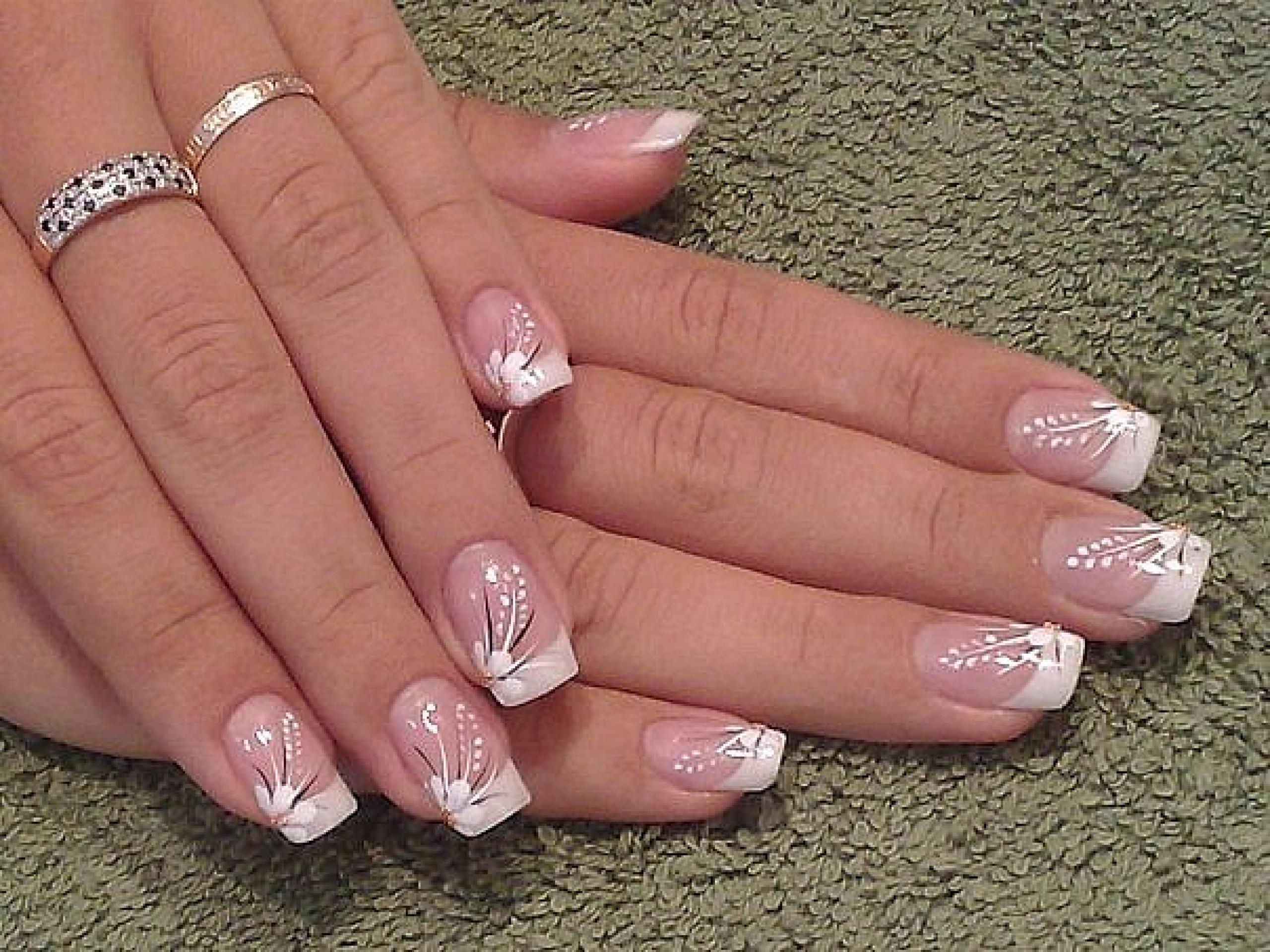 рисунки гель лаком френч на ногтях фото