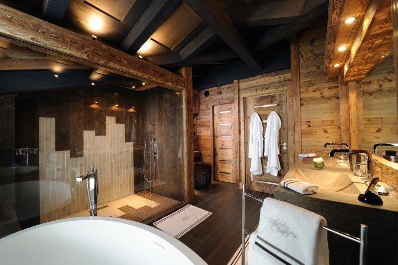 Дизайн ванной комнаты загородного дома