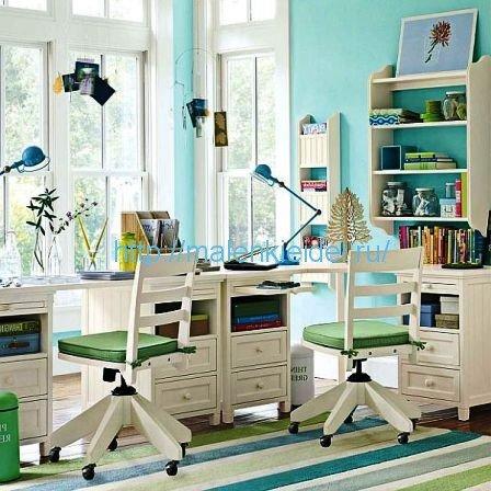 Как оборудовать рабочий кабинет для двоих детей в одной комнате