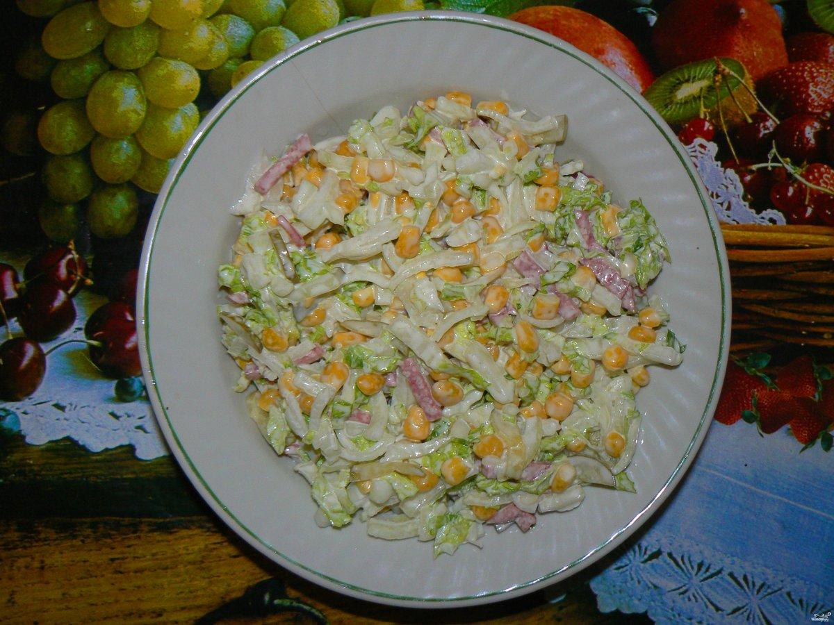 рецепты из китайской капусты салатов