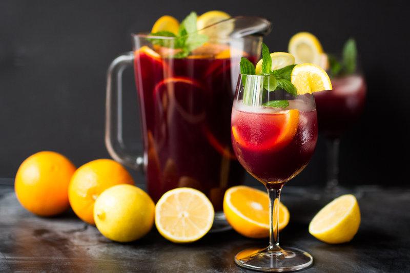 Сангрия на красном вине