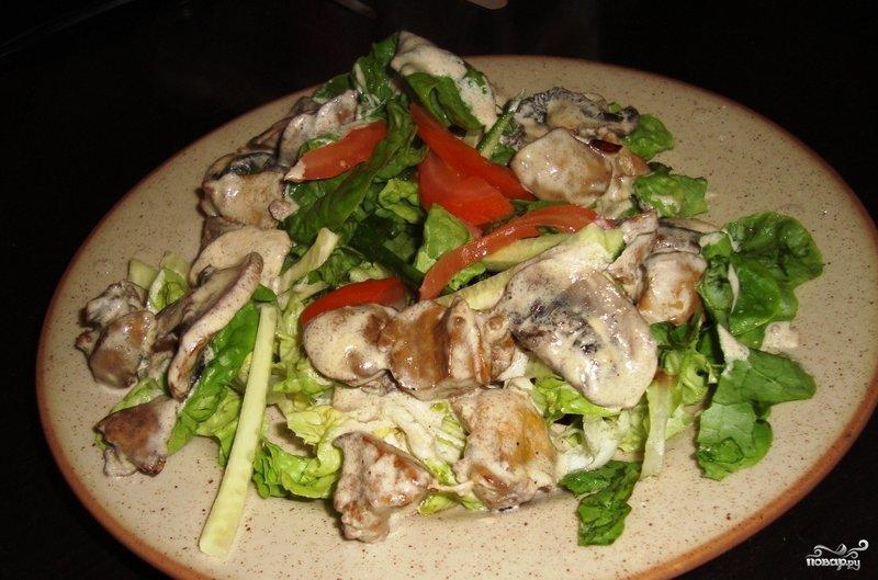 Салат из курин печенок с фото