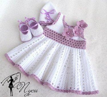 53 карточки в коллекции детские платья крючком пользователя Elena