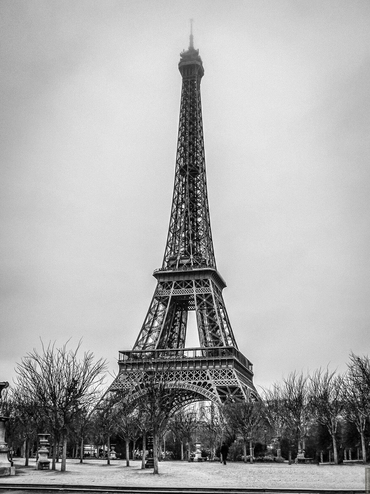 Черно белые картинки эйфелева башня