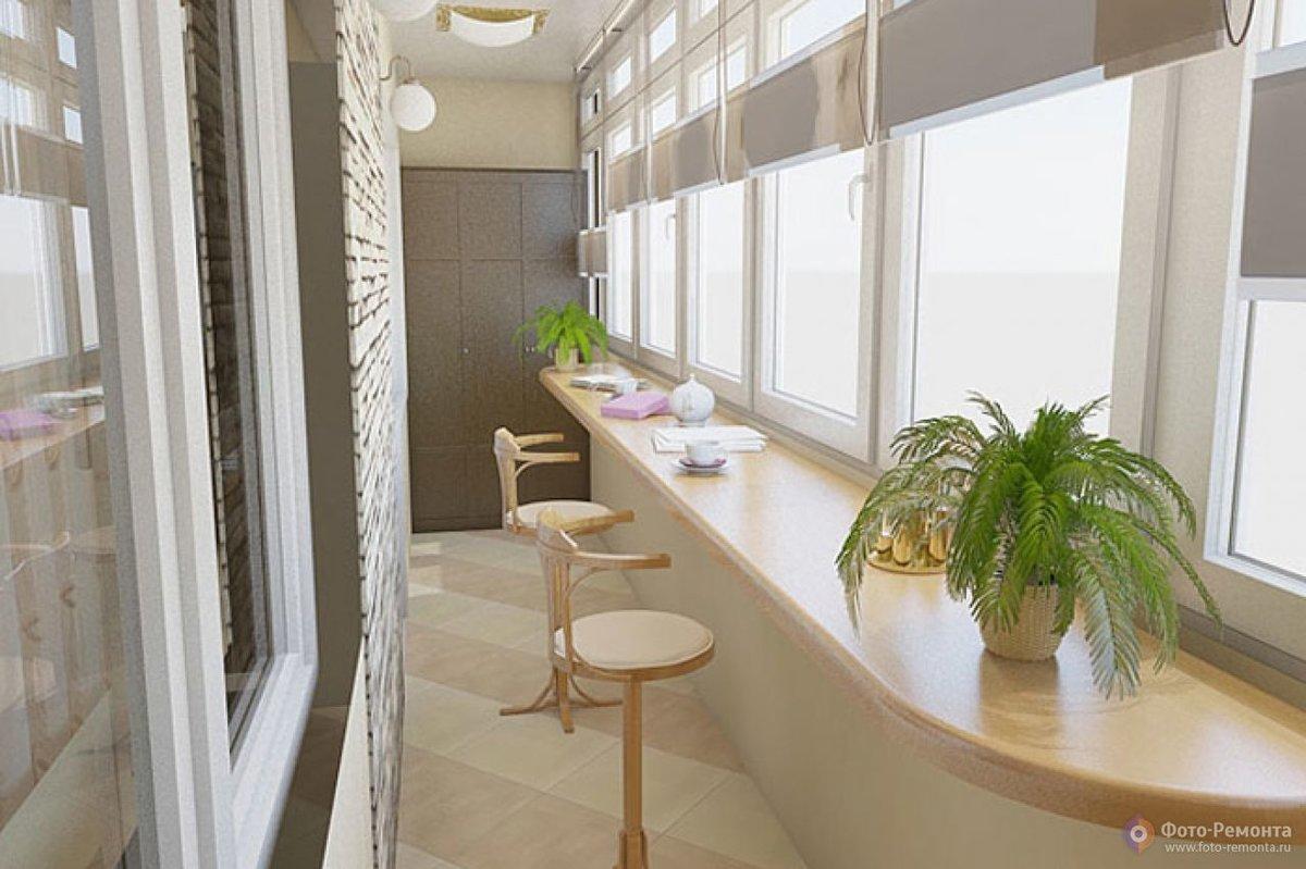 Создаем красивый дизайн интерьера на балконе или лоджии свои.