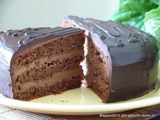 Торт из коржей рецепт с фото пошагово