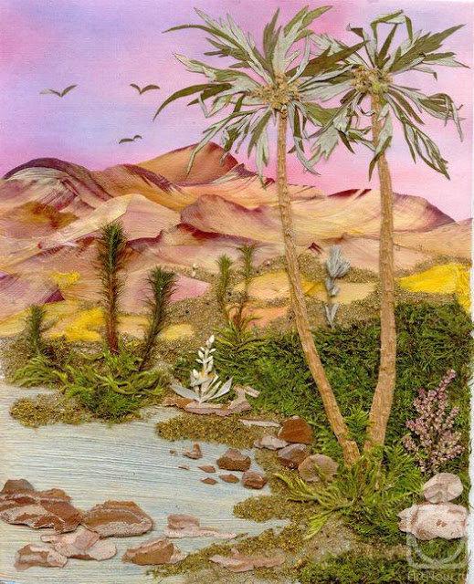 пальмы из лепестков