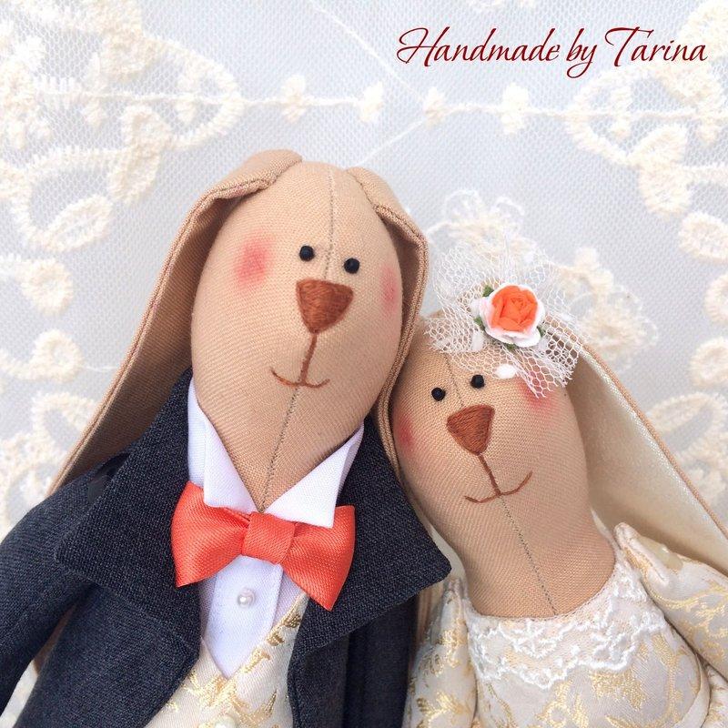Свадебные зайцы в стиле Тильда.tarinadolls.blogspot.ru