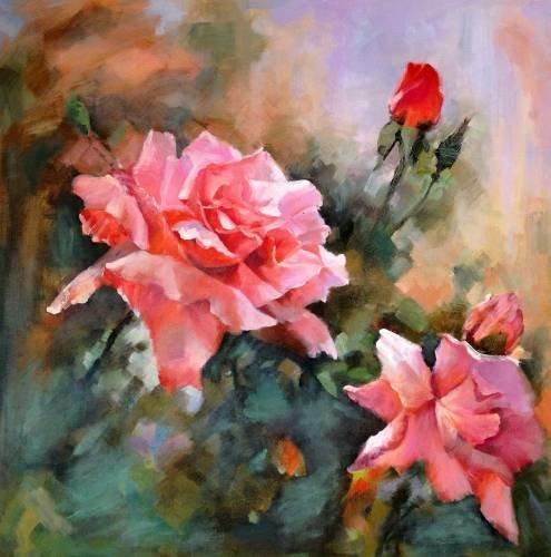 Картины с красивыми цветами 24