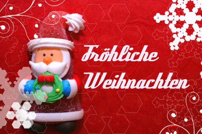 С рождеством на немецком открытка