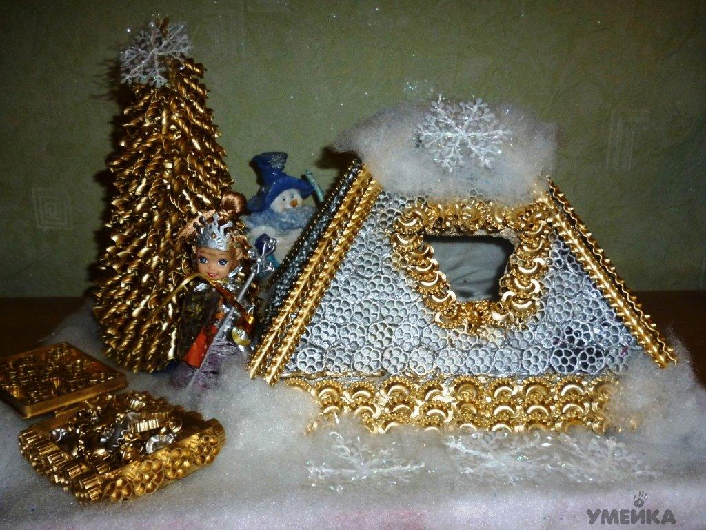 Новогодние поделки из макарон своими руками фото фото 482