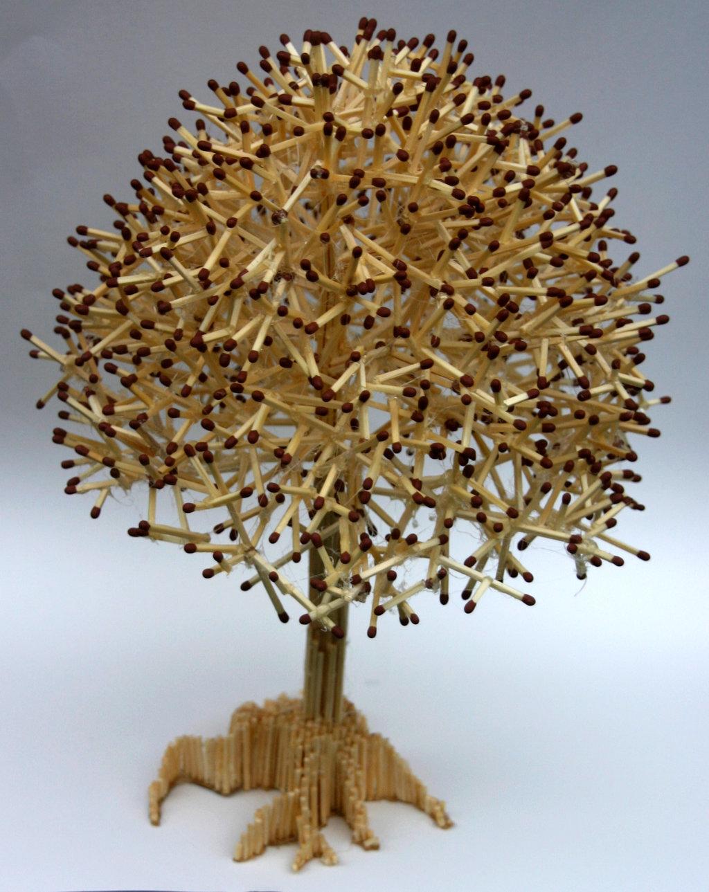 Как сделать дерево из спичек своими руками фото 441