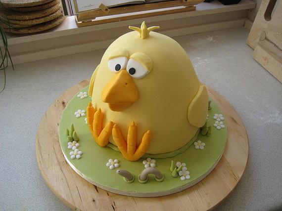 торт цыпленок