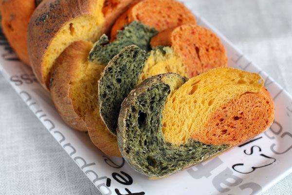 Хлеб разноцветный (в духовке)