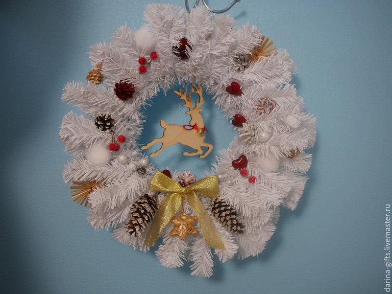 Рождественский венок: Сказочный олень