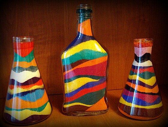 Оформление бутылок в домашних условиях