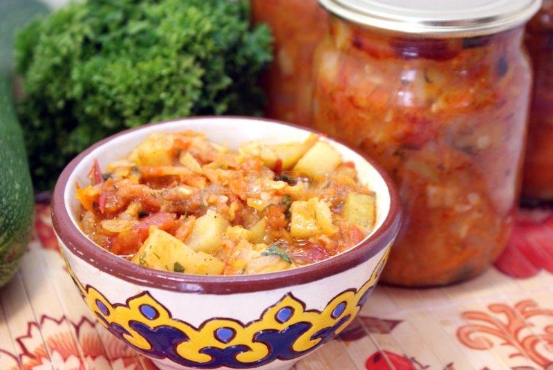 Кабачковое рагу рецепт с фото пошагово