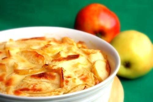 Яблочная запеканка рецепт с фото