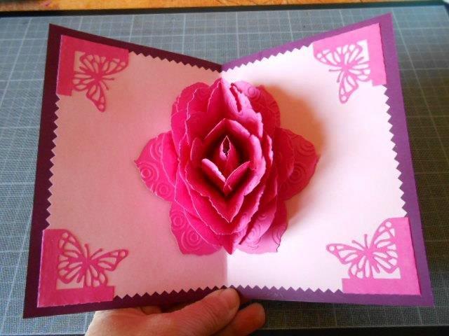 роза для объемной открытки летом берегу