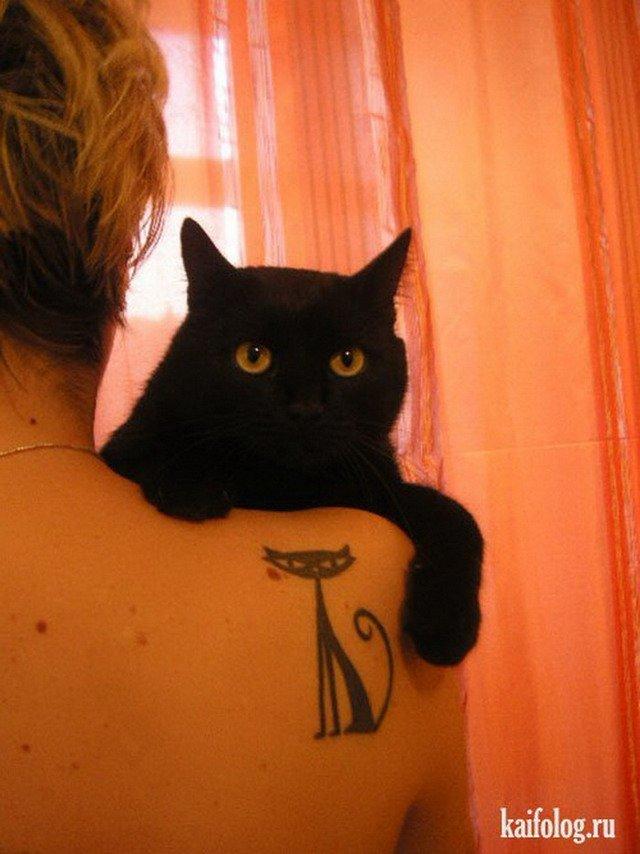 С черным котом на плече