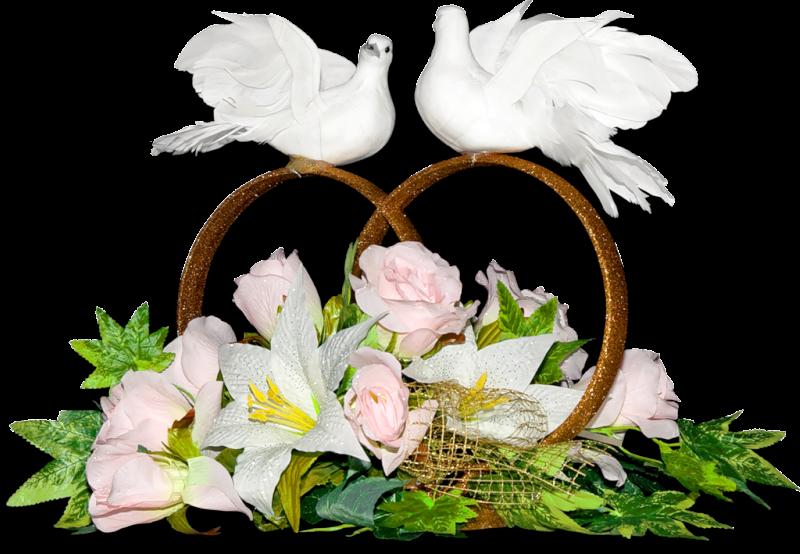 Женщине, анимация свадебные цветы