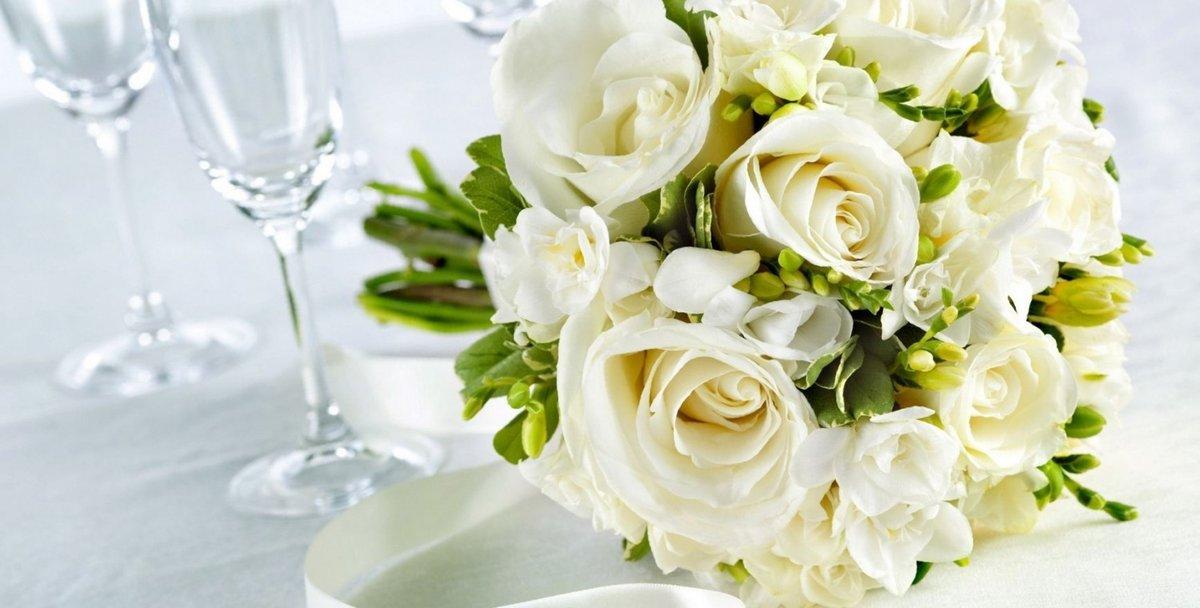 Белые свадебный открытки