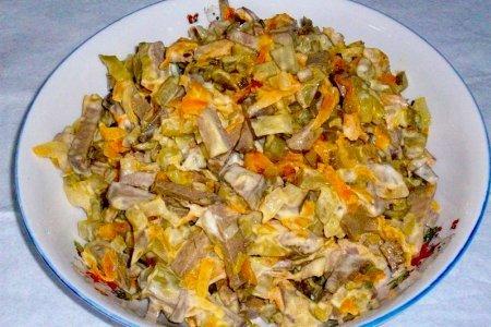 Рецепты салатов с говяжей печенью с фото