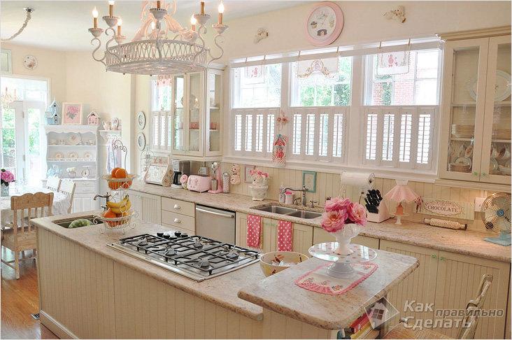 Кухня пастельных оттенков