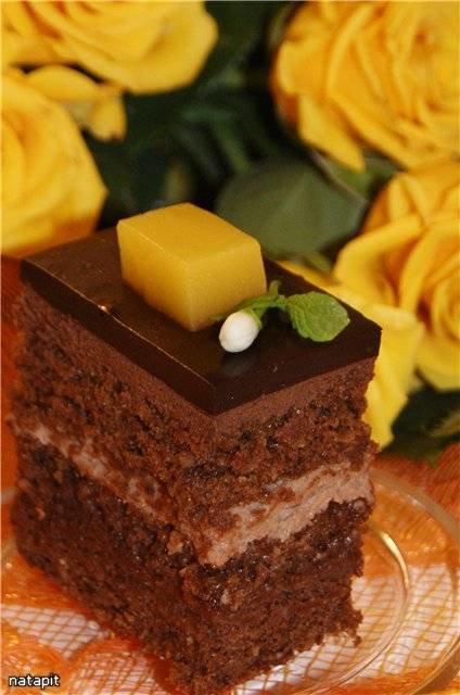 рецепт приготовление торта зехер с фото
