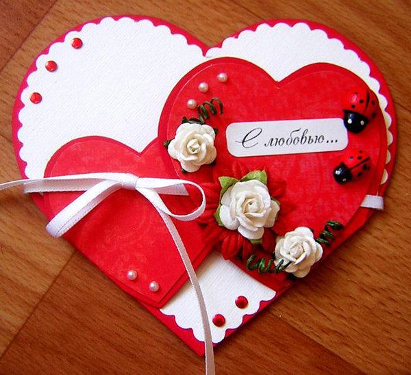 Открытки в виде сердца сделать, открытки