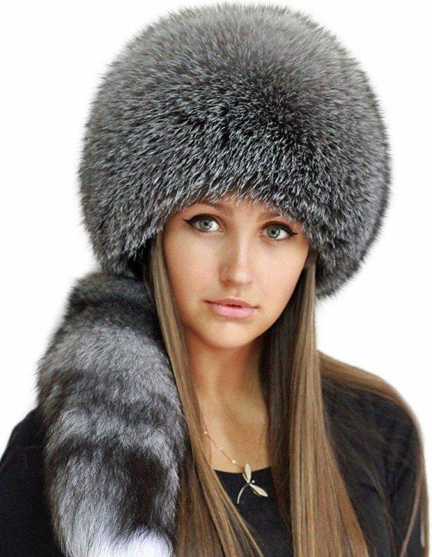 шапка зимняя женская меховая купить
