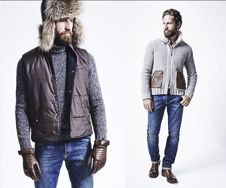 Зимняя коллекция мужской одежды MEUCCI в стиле кэжуал практична и ... Зимняя  коллекция мужской 6830f21161b
