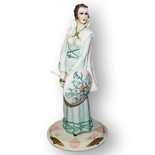 Статуэтка из фарфора Дама в зеленом, Дамы.