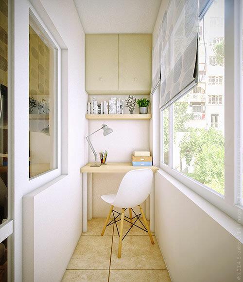 """Домашний офис на узком балконе."""" - карточка пользователя lyd."""