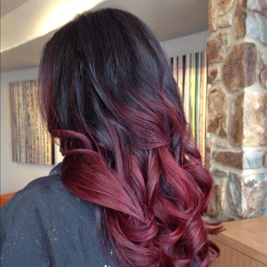 Фото винный цвет волос