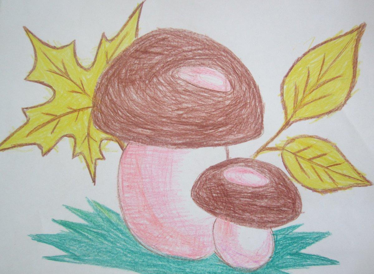 Открытка, нарисовать осеннюю картинку 1 класс