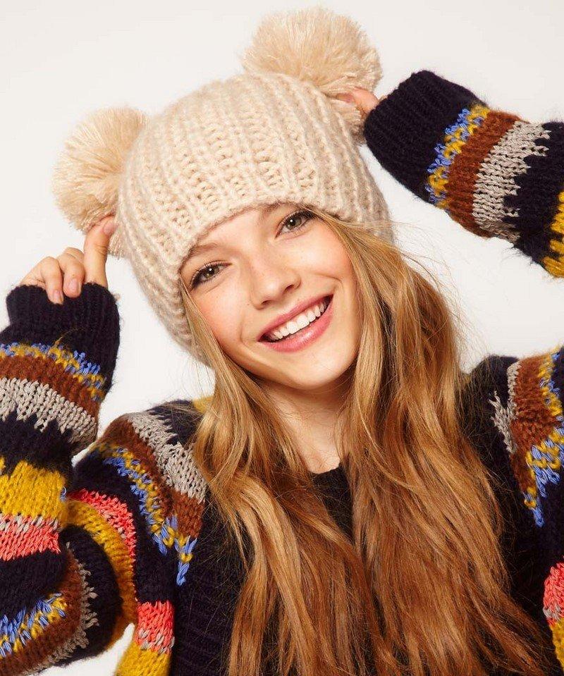 шапок для красивые вяжет зимних