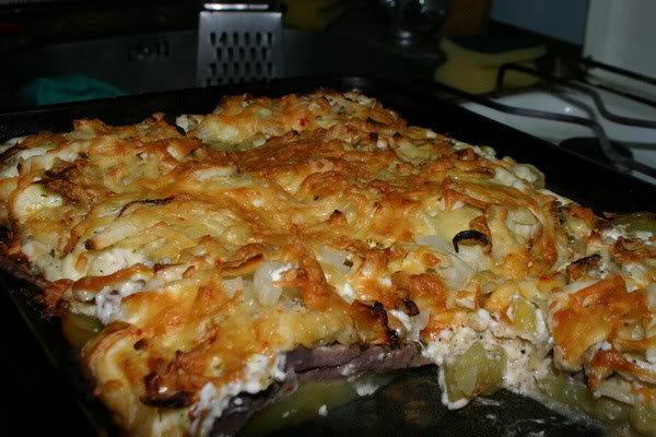Картошка с шампиньонами по французски в духовке