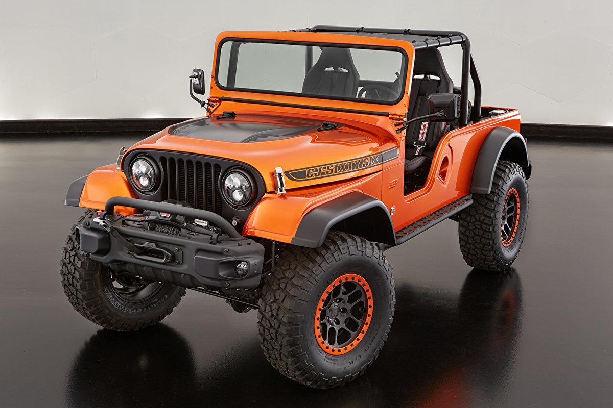 Внедорожник Jeep 2016 CJ66 Оранжевый Металлик Авто, вид под углом