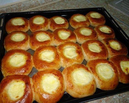Ватрушки в духовке рецепт с фото пошагово
