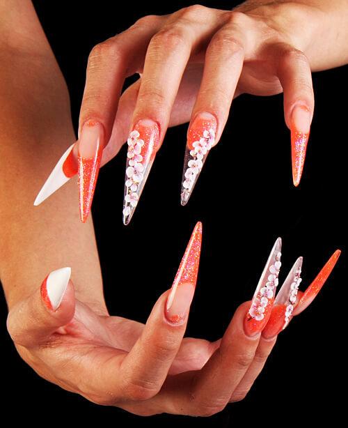 Длинные ногти галереи фото 754-92