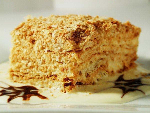 Торт наполеон рецепт с фото с орехами