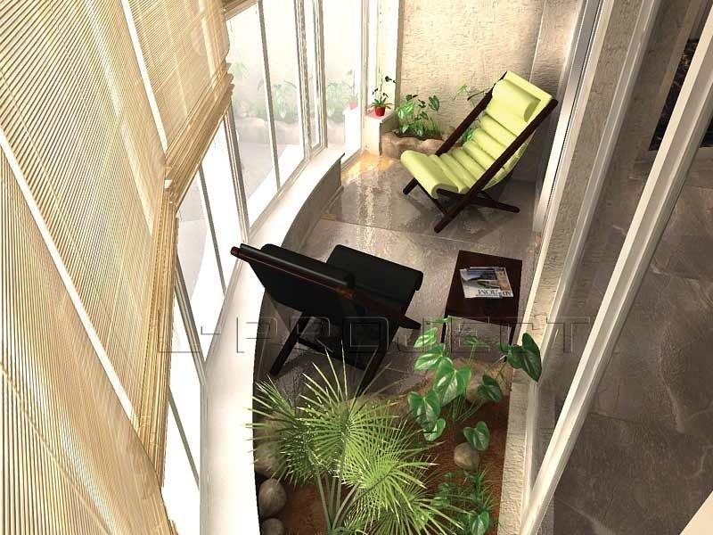 Балконы и лоджииявляються составной частью квартиры. умело .