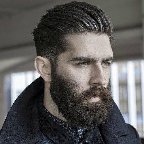 елегантная прическа с бородой