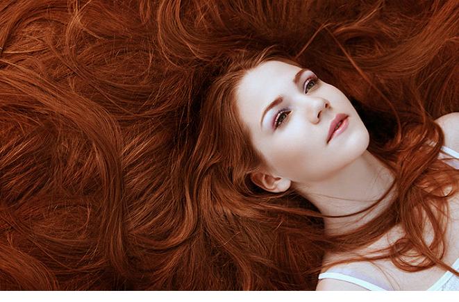 Натуральный красный цвет волос