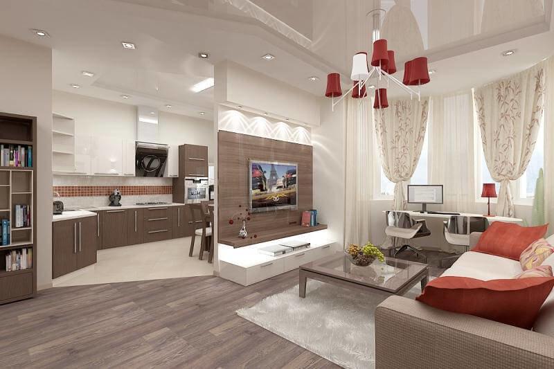 дизайн кухни-студии фото