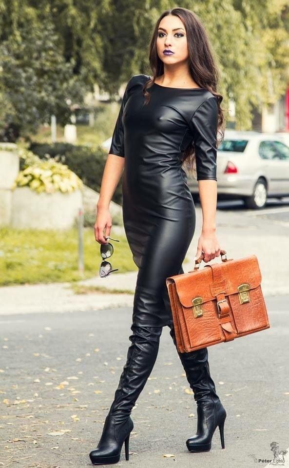 фото женщин кожаных красивые нарядах в